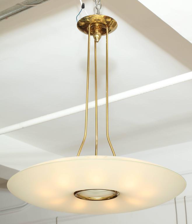 fontana arte chandelier made in italy 1955 for sale at 1stdibs. Black Bedroom Furniture Sets. Home Design Ideas