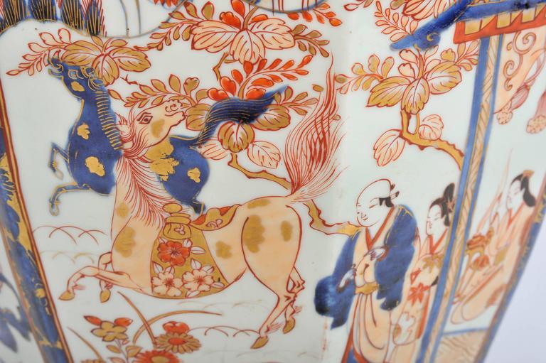 Porcelain Large 19th Century Japanese Imari Vase For Sale