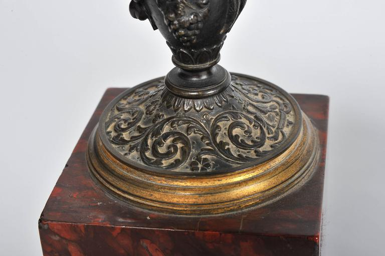 French 19th Century Marble Mantel Clock Set For Sale 1
