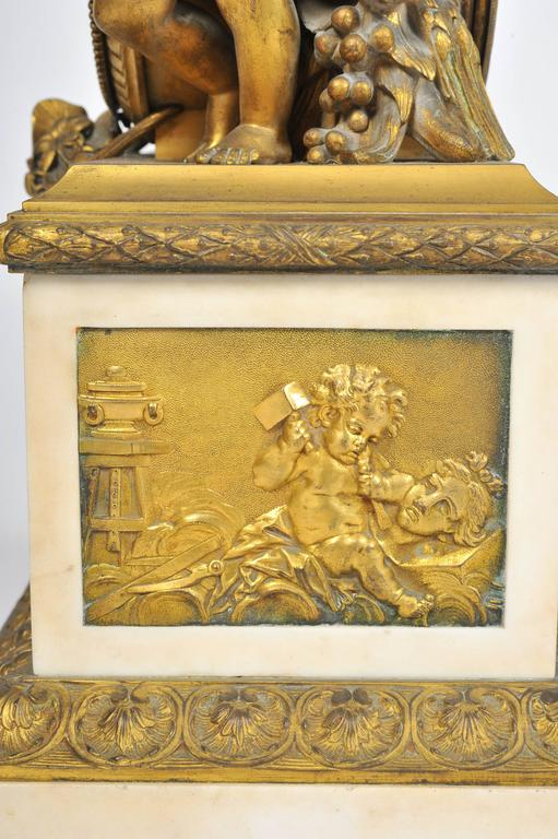 19th Century French Mantel Clock, by 'Monbro Aine, Paris' For Sale 1
