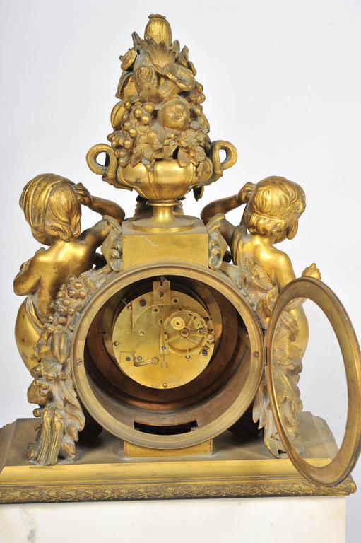 19th Century French Mantel Clock, by 'Monbro Aine, Paris' For Sale 2