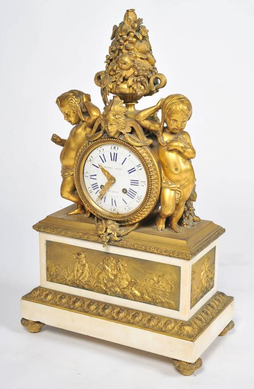 19th Century French Mantel Clock, by 'Monbro Aine, Paris' For Sale 3