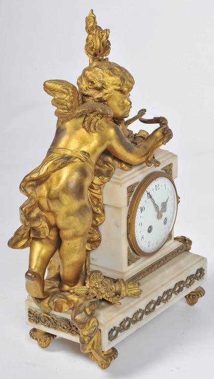 French Louis XVI style Mantle Clock, 19th Century For Sale
