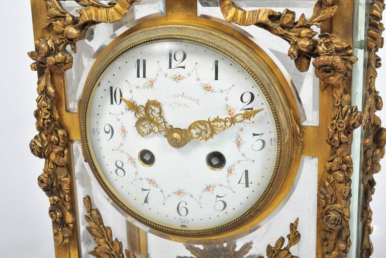 Ormolu 19th Century Louis XVI style,  Mantel Clock 17