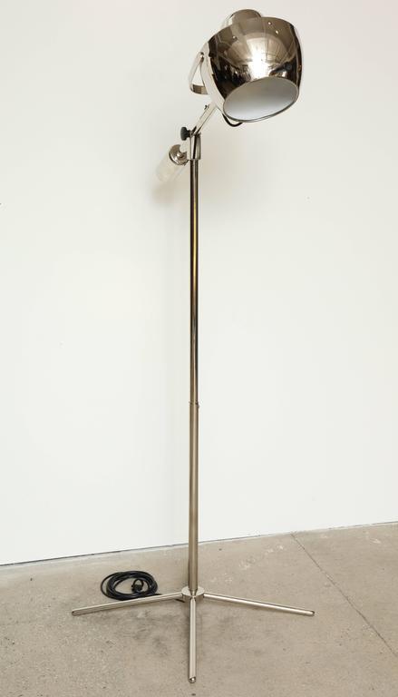 Chrome boom arm floor lamp for sale at 1stdibs for 5 arm chrome floor lamp