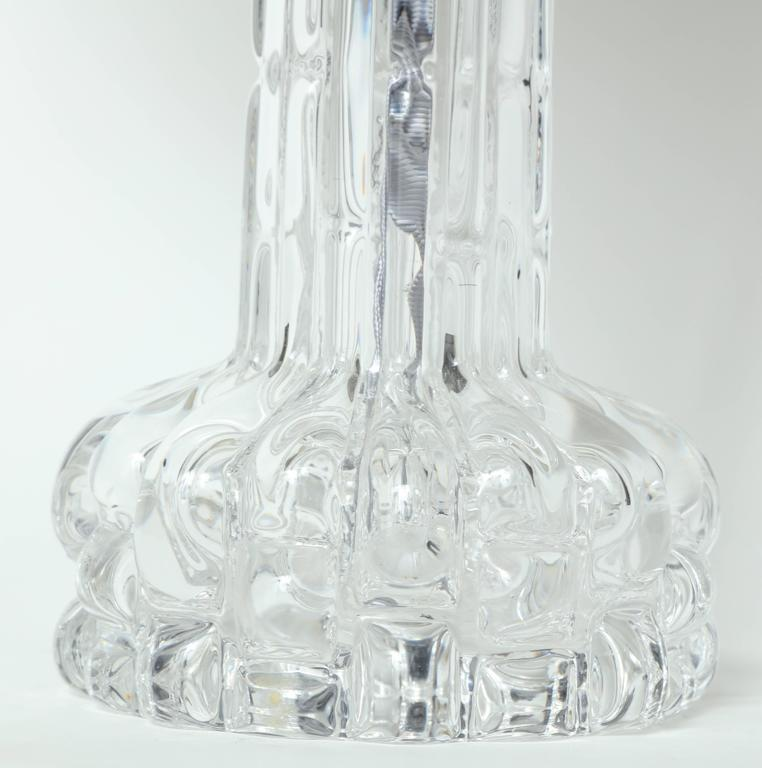 Scandinavian Modern Carl Fagerlund for Orrefors Crystal Table Lamps For Sale