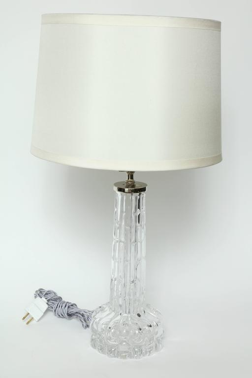 Swedish Carl Fagerlund for Orrefors Crystal Table Lamps For Sale