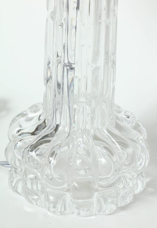 20th Century Carl Fagerlund for Orrefors Crystal Table Lamps For Sale