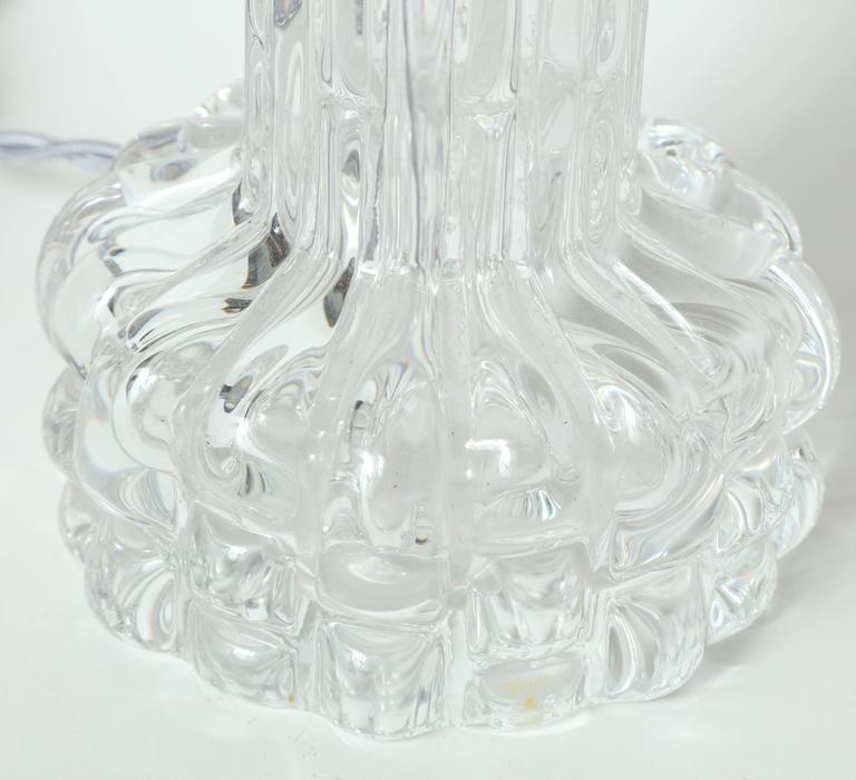 Carl Fagerlund for Orrefors Crystal Table Lamps For Sale 2