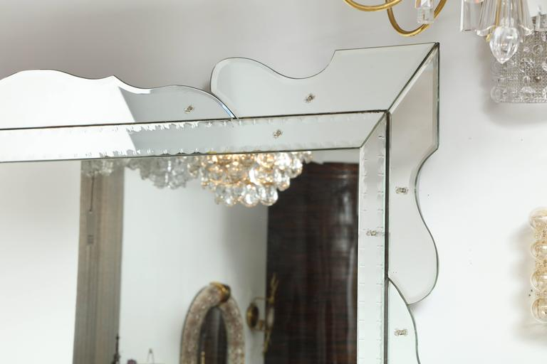 Mid-Century Modern Italian 1950s Modernist Venetian Mirror For Sale