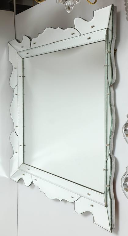 20th Century Italian 1950s Modernist Venetian Mirror For Sale