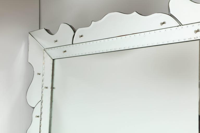 Italian 1950s Modernist Venetian Mirror For Sale 1