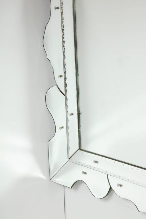 Italian 1950s Modernist Venetian Mirror For Sale 2
