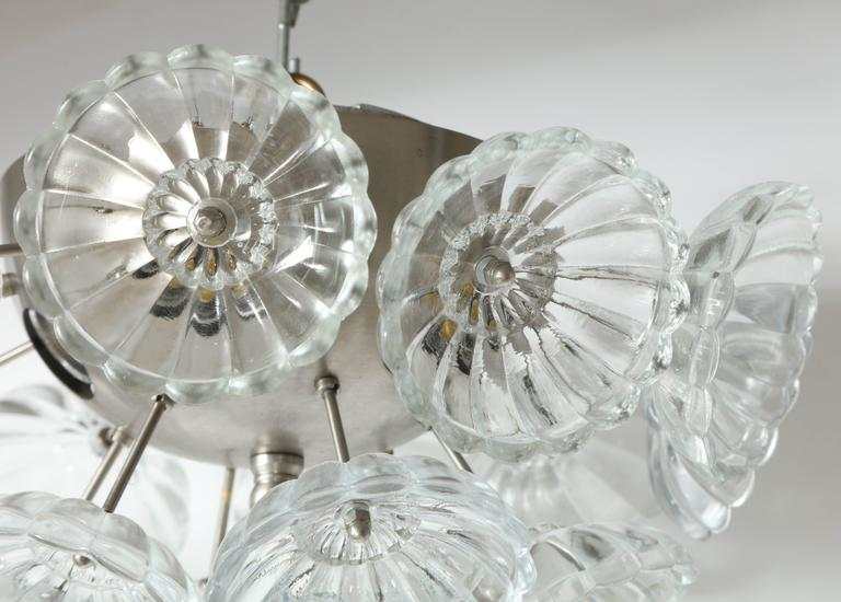Scandinavian Modern Flower Glass Sputnik Flush Mounts, Sconces For Sale