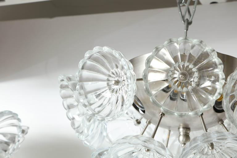 Austrian Flower Glass Sputnik Flush Mounts, Sconces For Sale