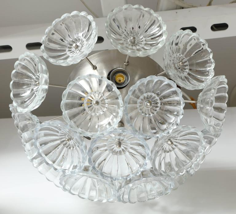 Flower Glass Sputnik Flush Mounts, Sconces In Excellent Condition For Sale In New York, NY