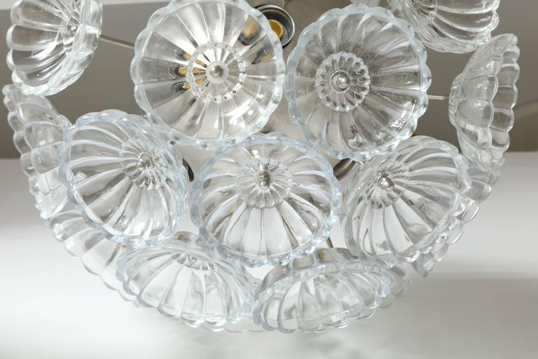 20th Century Flower Glass Sputnik Flush Mounts, Sconces For Sale