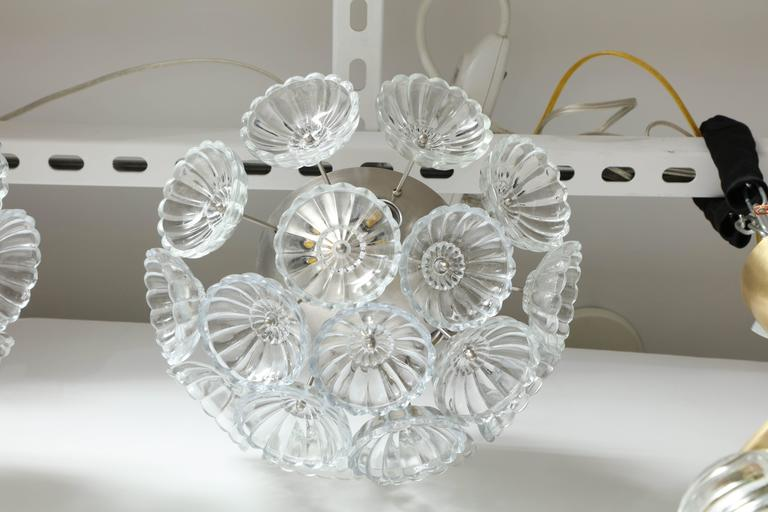 Murano Glass Flower Glass Sputnik Flush Mounts, Sconces For Sale