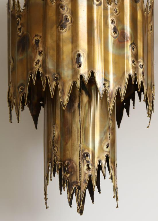 Tom Greene Brutalist Chandelier In Good Condition For Sale In New York, NY
