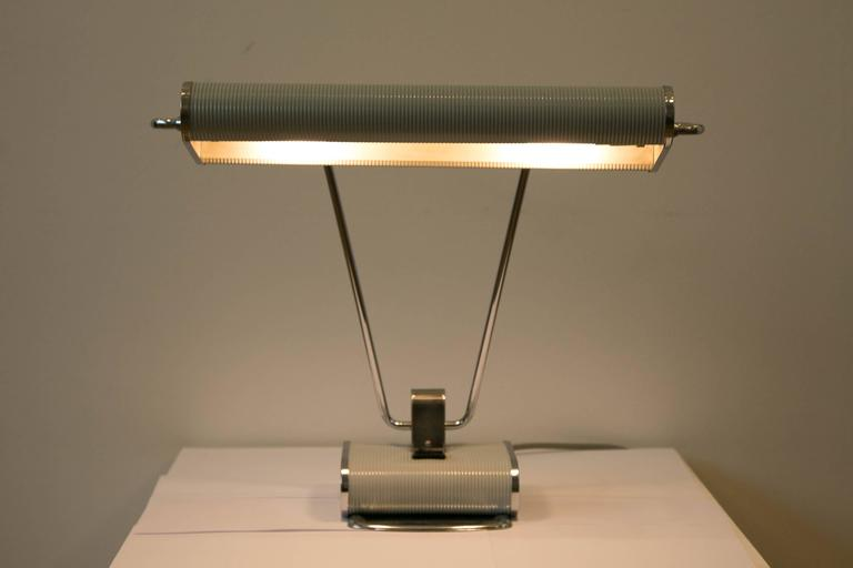 Brass French Table Lamp by Jumo-Eileen Gray, France