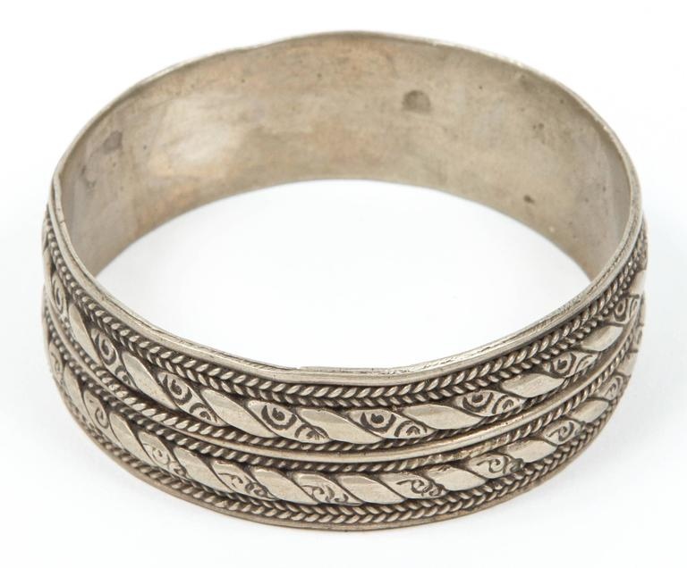 Moroccan Berber Tribal Bracelet Made From Coin Silver Not Pure Sterling