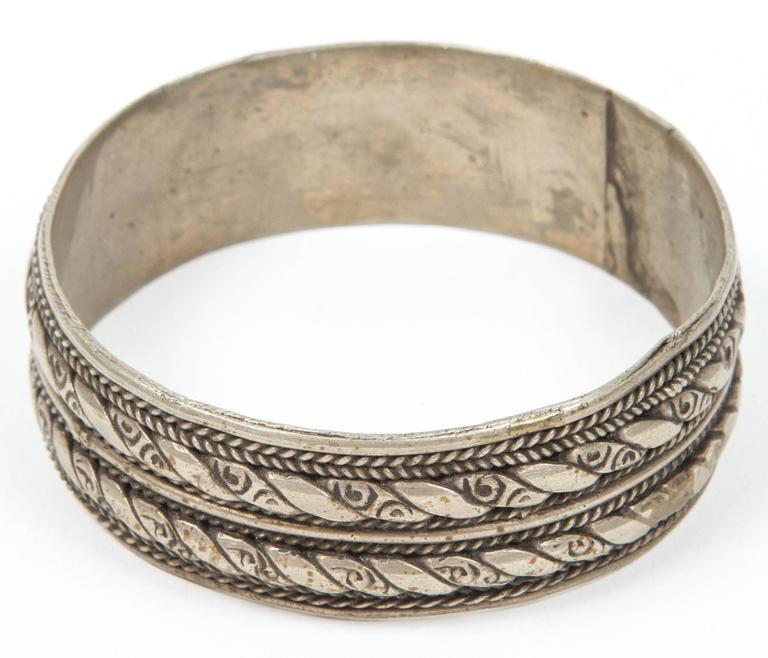 Appliqué Moroccan Berber Tribal Bracelet For Sale