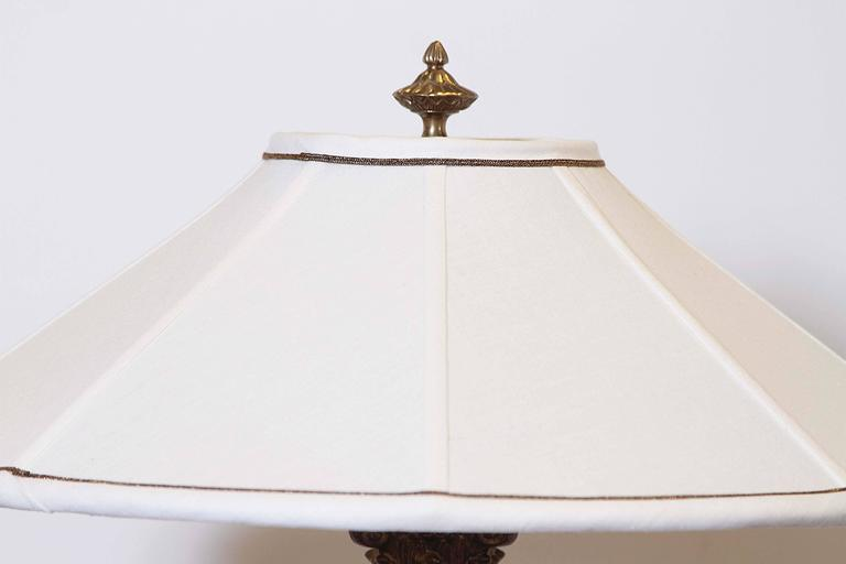 20th Century Pair of Crystal Column Lamps For Sale