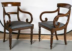 Pair of Period Regency arm chairs