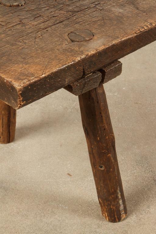 Italian Long Primitive Rustic Bench At 1stdibs