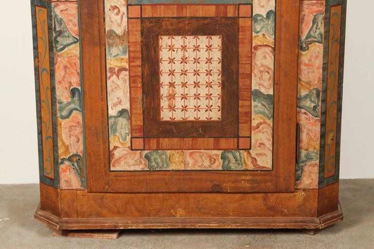 Folk Style Hand-Painted Cabinet  4