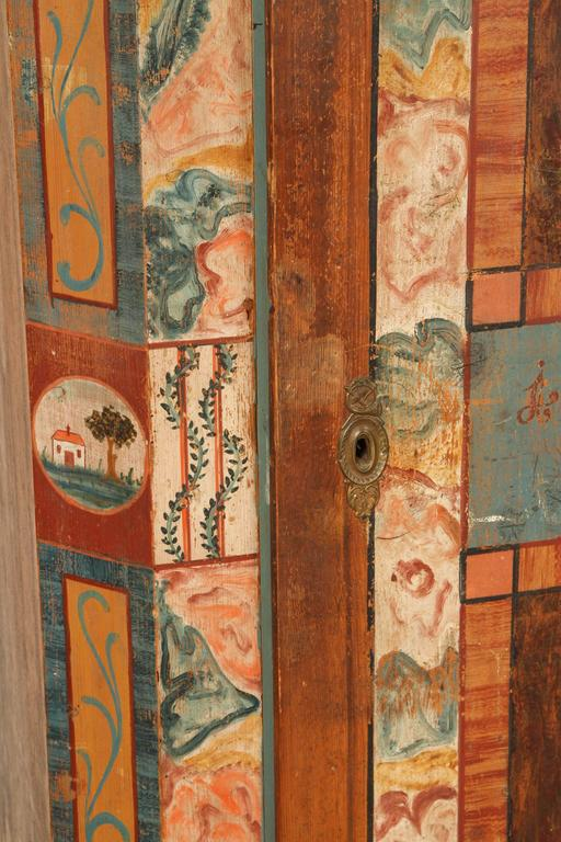 Folk Style Hand-Painted Cabinet  5