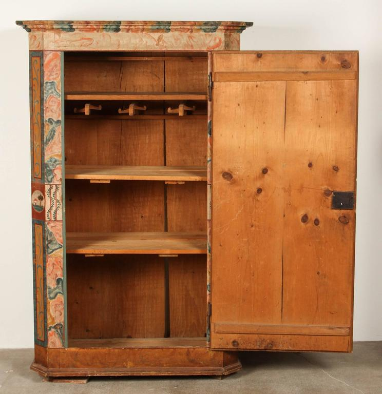 Folk Style Hand-Painted Cabinet  6