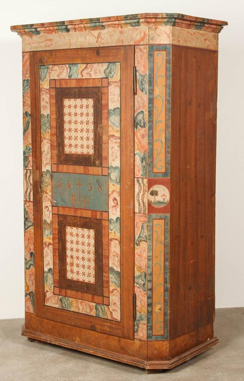 Folk Style Hand-Painted Cabinet  9