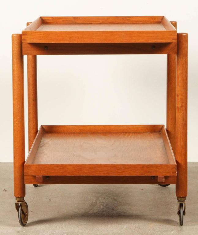 Mid-Century Modern Mid-Century Teak Danish Bar Cart For Sale