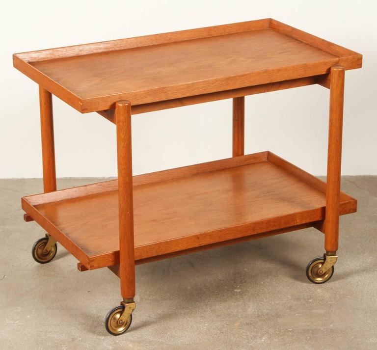 20th Century Mid-Century Teak Danish Bar Cart For Sale