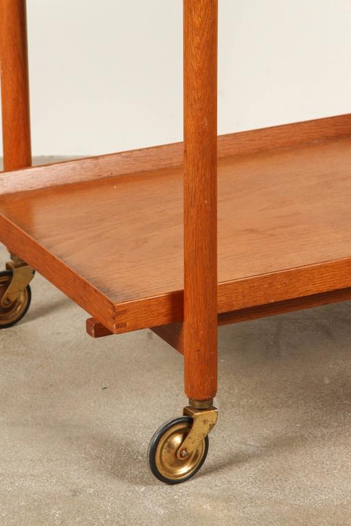 Mid-Century Teak Danish Bar Cart For Sale 1