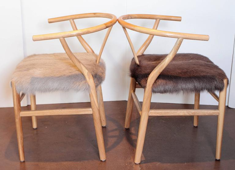scandinavian modern fur dining chairs for sale at 1stdibs