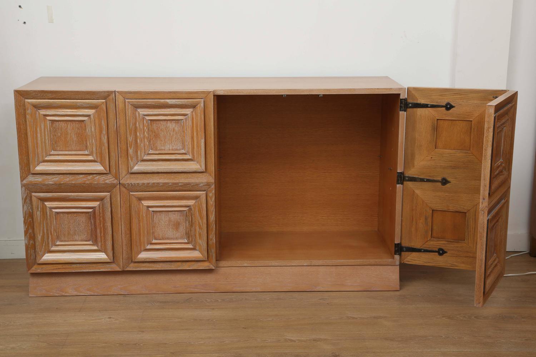 Large cerused oak cabinet france 1940 for sale at 1stdibs for 1940s kitchen cabinets for sale