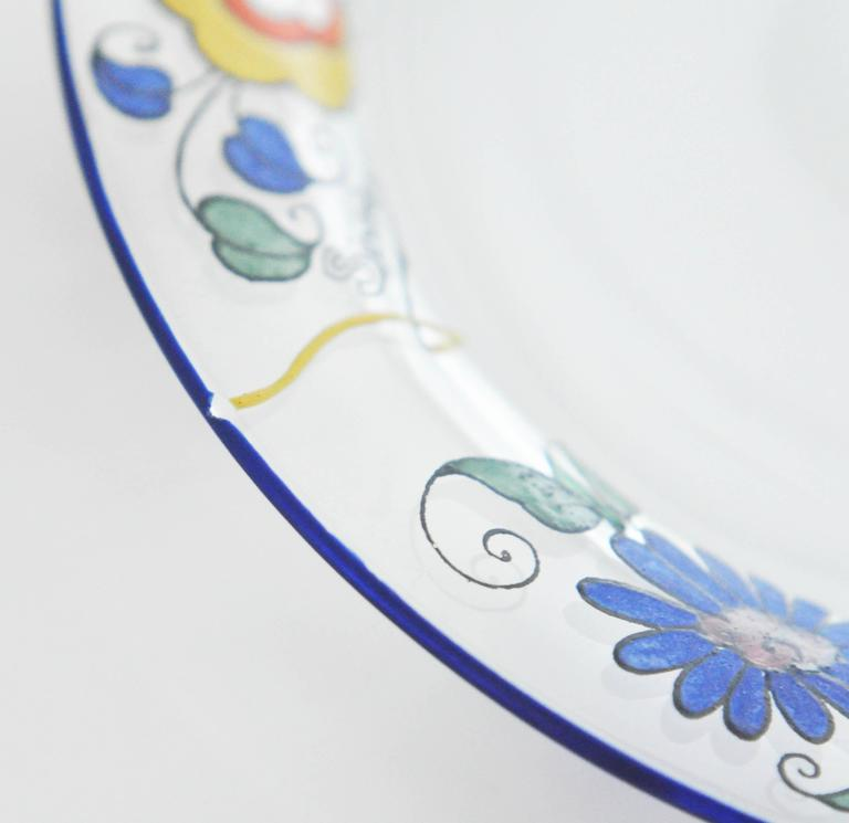 1920s Sevres Enameled Glass Plates For Sale 1