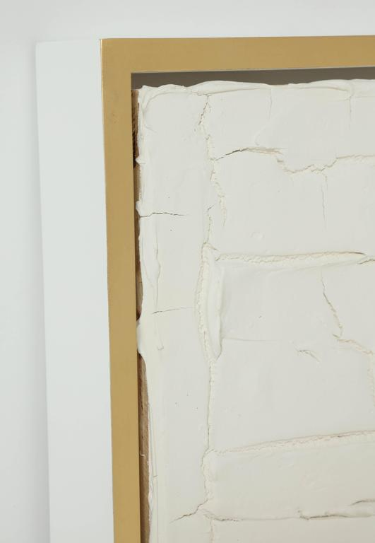 Organic Modern Peter Buchman Untitled No. 3, Plaster Series on Wood with Frame, 2016 For Sale