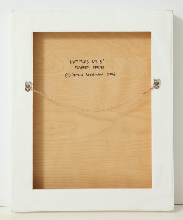 Peter Buchman Untitled No. 3, Plaster Series on Wood with Frame, 2016 8