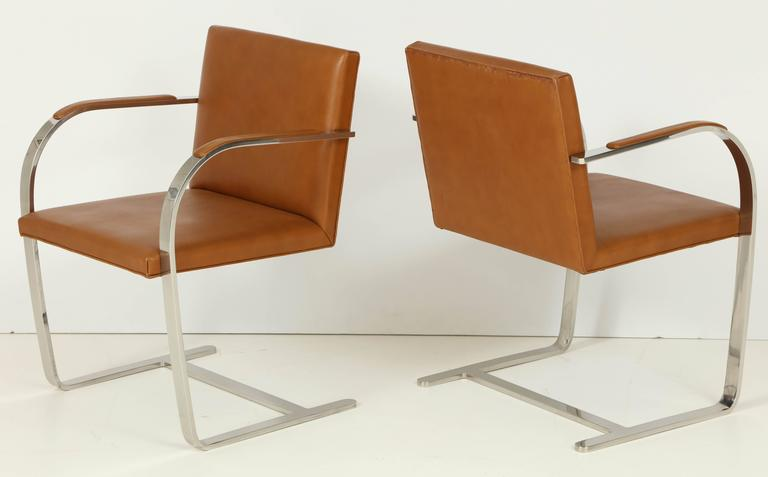 Pair of Mies van der Rohe Brno Chairs by Knoll, circa 1960s 3