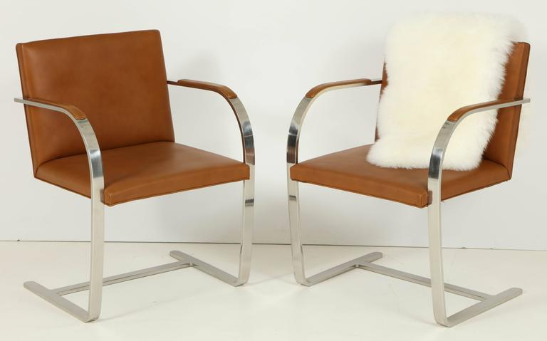 Pair of Mies van der Rohe Brno Chairs by Knoll, circa 1960s 9