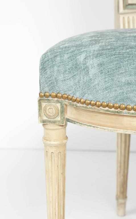 20th Century Set of Eight Louis XVI Style Caned Back Dining Chairs For Sale