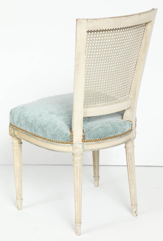 Set of Eight Louis XVI Style Caned Back Dining Chairs For Sale 3