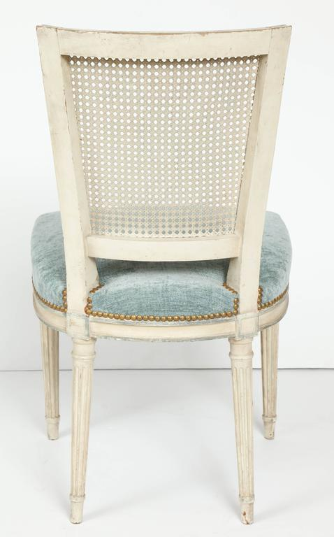 Set of Eight Louis XVI Style Caned Back Dining Chairs For Sale 4