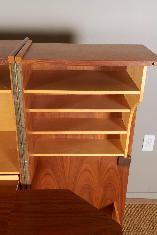 Vintage Secretary Desk >> Mummenthaler and Meier Teak 'Magic Box' Fold Out Secretary Desk and Cabinet at 1stdibs