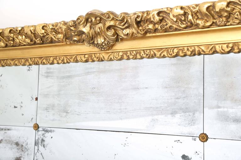Baroque Revival Monumental 19th Century Giltwood Wall Mirror 9 Foot X 6 For