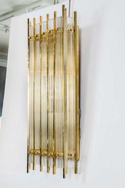 Modern Set of Four Sconces in Murano Glass For Sale