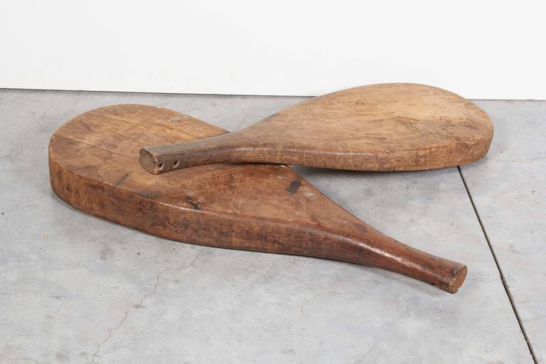 Chinese Thick Rustic Paddle Shaped Trays For Sale